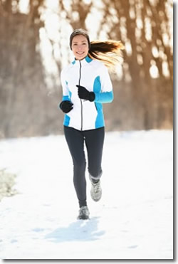 Stay warm while training in the winter